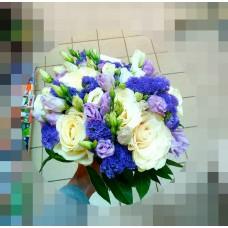 Букет  свадебный Аквамарин