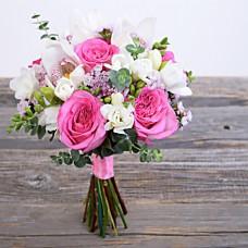 Букет свадебный с орхидеями