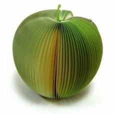 Сувенир Блокнот раскладушка Яблоко зеленое 6+