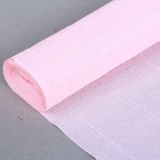 Бумага гофрированная бело-розовая (50 см х 2,5 м)